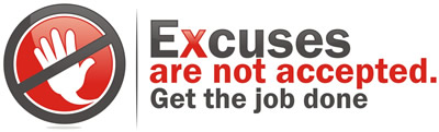 excuses not accepted logo
